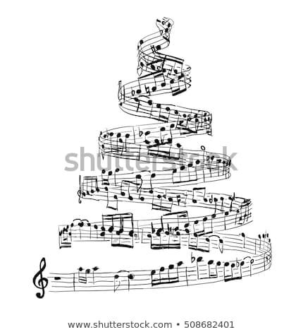 いたずら書き · クリスマスツリー · 実例 · 手描き · 装飾された · デザイン - ストックフォト © m_pavlov