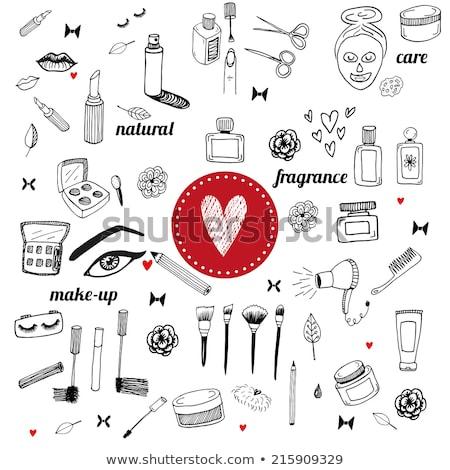 Mascara schets icon vector geïsoleerd Stockfoto © RAStudio