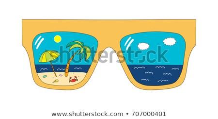 Ola oceánica ojo clipart imagen moda diseno Foto stock © vectorworks51