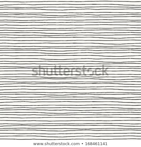 Stok fotoğraf: Vector Seamless Black And White Hand Drawn Lines Pattern