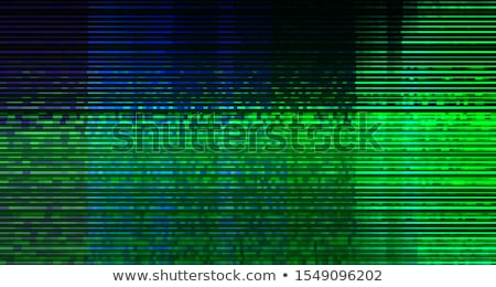 spyware and ransomware concept with digital glitch effect stock photo © stevanovicigor
