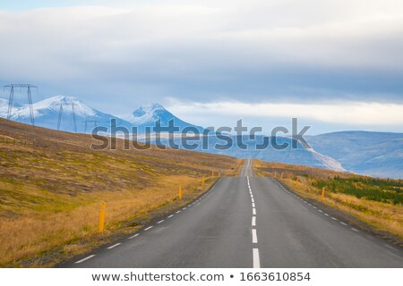 Snow-covered volcanic mountain landscape in Iceland Stock photo © kb-photodesign