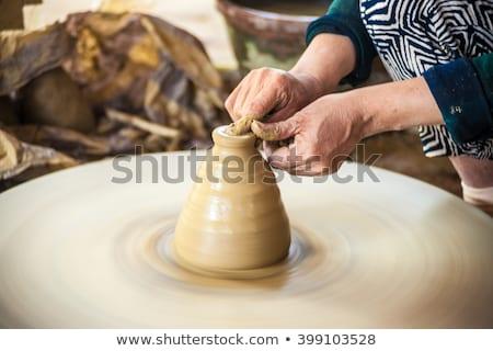 clay pot creation traditional vietnam Stock photo © shevtsovy