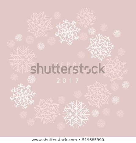 Sneeuwvlok winter kaart zacht vrouwelijk Stockfoto © Galyna