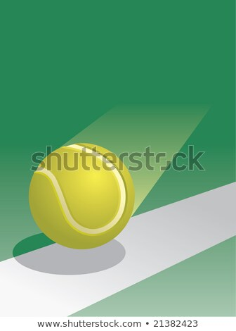 Tennis Ball inbounds Stock photo © njnightsky
