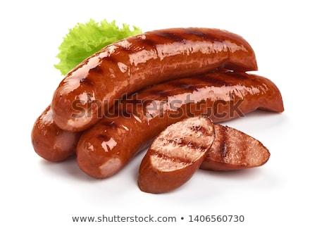 Kielbasa sausages on white background Stock photo © Digifoodstock