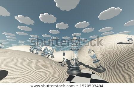 ruimte · tijd · schaken · metafoor · 3d · render · illustratie - stockfoto © grechka333