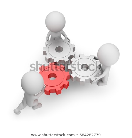 Stock photo: 3d small people - main gear
