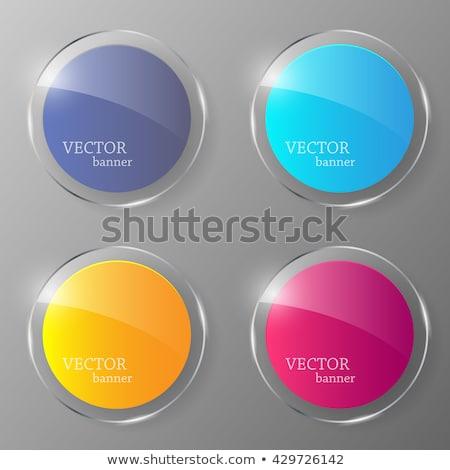 Abstract glanzend cirkels knoppen vector ontwerp Stockfoto © vlastas