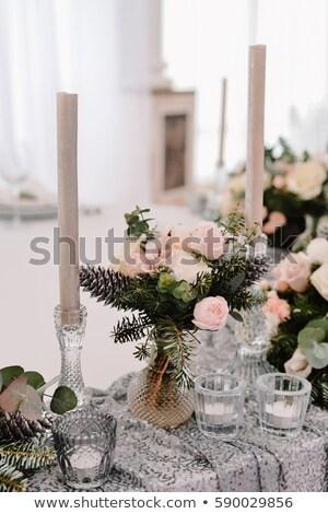 elegante · ceremonie · tabel · arrangement · bruiloft · voedsel - stockfoto © olgaburtseva