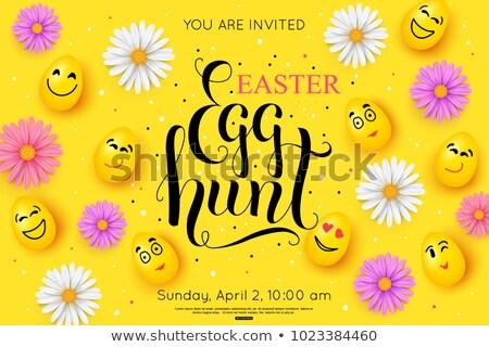 Easter Hunt Handwritten Lettering Stock photo © Anna_leni