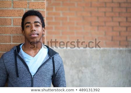sérieux · adolescente · uniforme · Rechercher · jeunes - photo stock © sapegina