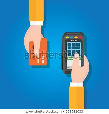 Credit Card Processing Icon. Flat Design. Stock photo © WaD