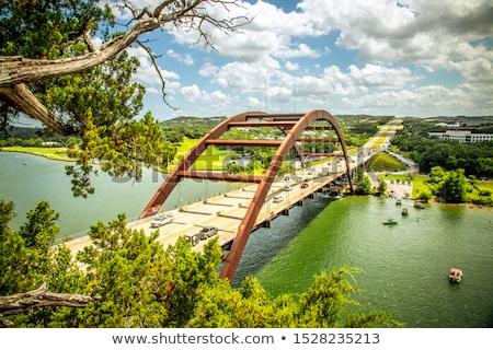 Austin híd művészi kilátás utazás tó Stock fotó © BrandonSeidel