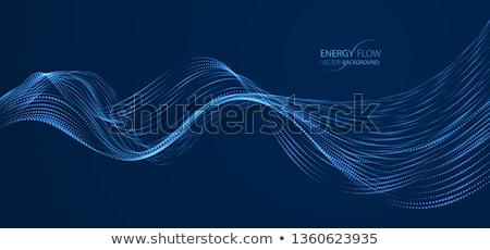 Stockfoto: Abstract · bokeh · golven · Blauw · textuur · licht