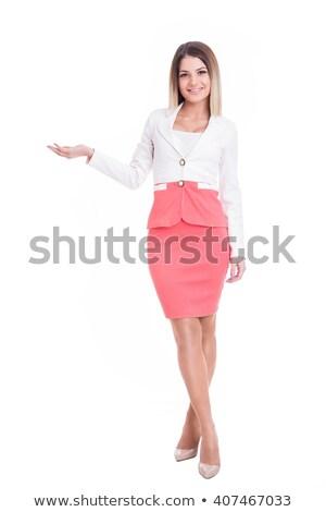 hermosa · jóvenes · negocios · mujer · estudio · cara - foto stock © andreonegin
