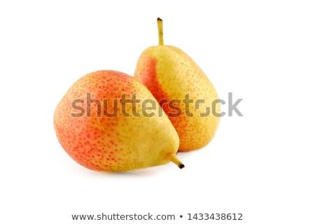 twee · Geel · peren · witte · voedsel · blad - stockfoto © digifoodstock