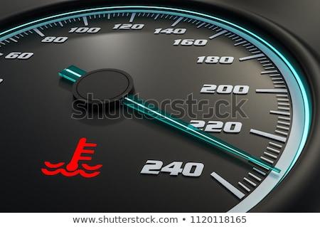 High Temperature Dashboard Light Stock photo © albund