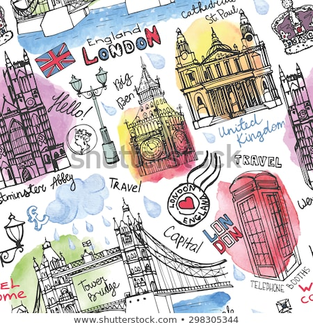 koninklijk · Londen · Engeland · vintage · gegraveerd · illustratie - stockfoto © jackybrown