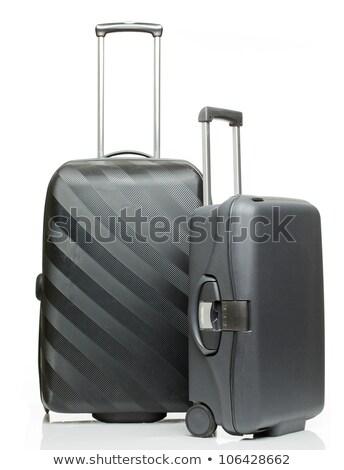 Fekete tok izolált bőrönd fehér fém Stock fotó © MaryValery