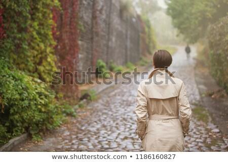 Nebuloso cidade surreal ver menino suporte Foto stock © psychoshadow