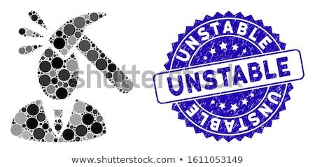 Inestable rojo blanco etiqueta goma Foto stock © chrisdorney