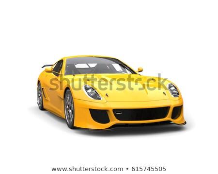 Sarı spor araba farlar kapı spor gece Stok fotoğraf © njnightsky