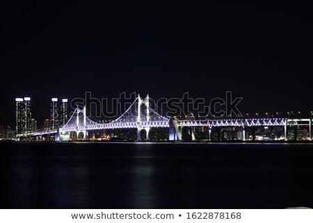 Ponte cena noturna moderno cidade negócio água Foto stock © raywoo