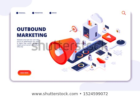 Photo stock: Contenu · marketing · portable · écran · 3d · illustration