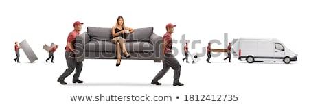 Full length of man sitting in van Stock photo © wavebreak_media