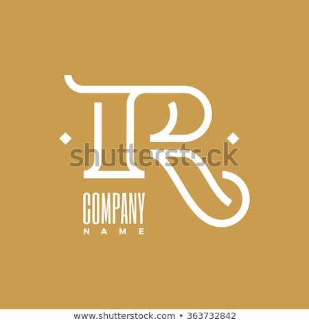 Kreatív r betű prémium logoterv esküvő felirat Stock fotó © SArts