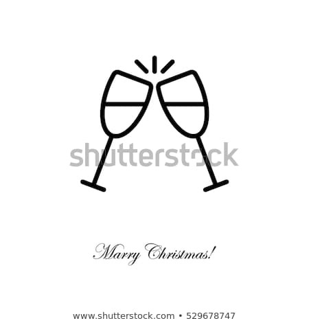 clink glasses icons stock photo © biv