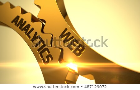 monitoring reporting concept golden metallic cog gears 3d illustration stock photo © tashatuvango