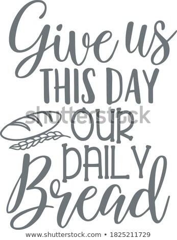 Diariamente pão rústico pão madeira Foto stock © lincolnrogers