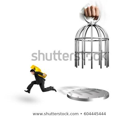 男 · 囚人 · 孤立した · 白人 · 白 · セキュリティ - ストックフォト © elnur