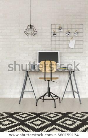 внештатно белый кирпичная стена болван иконки вокруг Сток-фото © tashatuvango