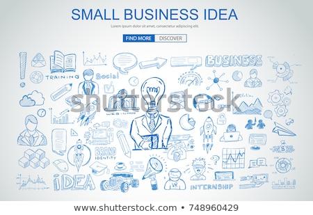 small business ideas on chalkboard in the office stock photo © tashatuvango