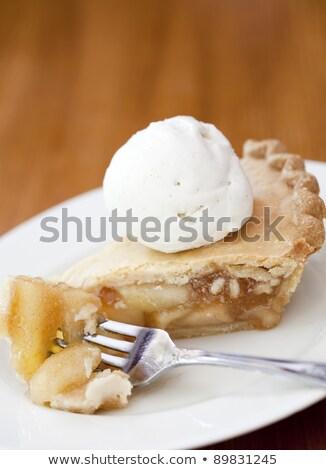 яблочный пирог мороженого огромный сахарной пудры продовольствие пирог Сток-фото © smitea
