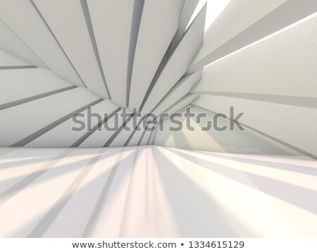 Niche with three light lamps. 3D rendering Stock photo © user_11870380