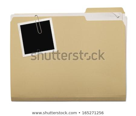 descriptions concept on file label stock photo © tashatuvango