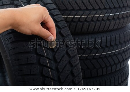 Picture of a black tyre Stock photo © Traimak