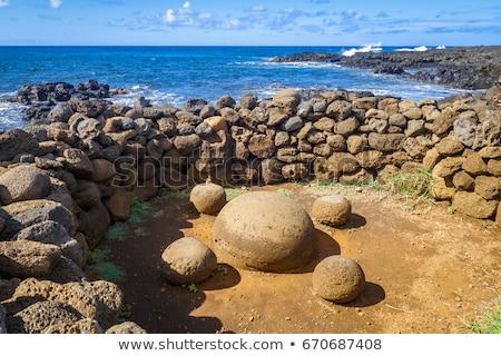 Magnétique pierres île de Pâques Chili Pâques nature Photo stock © daboost