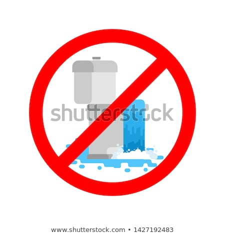 Stop toilet is clogged. It is forbidden to use toilet. Prohibiti Stock photo © MaryValery