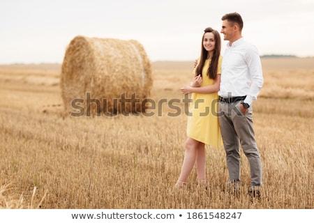 пару · , · держась · за · руки · ходьбе · далеко · счастливым · любви - Сток-фото © is2