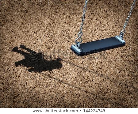 Kid ragazza triste swing illustrazione bambina Foto d'archivio © lenm