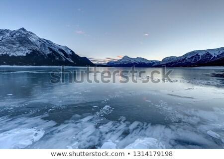 Buborékok fagyott tó jég rétegek levegő Stock fotó © pancaketom
