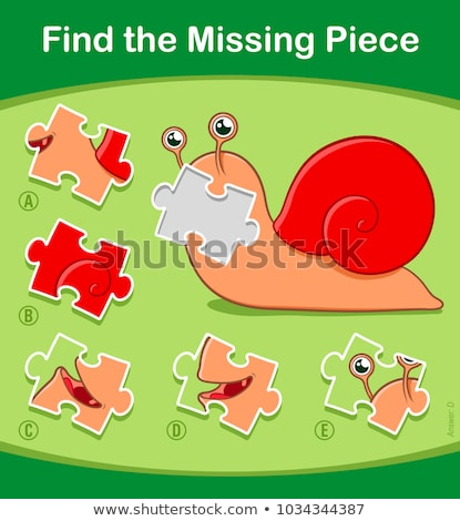 Find the Missing Piece puzzle game with cute snail Stock photo © adrian_n