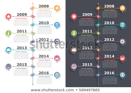 Vector colorful vertical Infographic timeline report template Stock photo © orson
