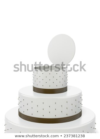 Stock photo: Big Opened Cake With Surprise