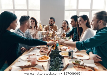 Man and woman toasting each other Stock photo © IS2